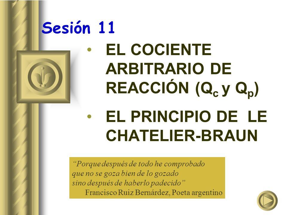 EL COCIENTE ARBITRARIO DE REACCIÓN (Qc y Qp)