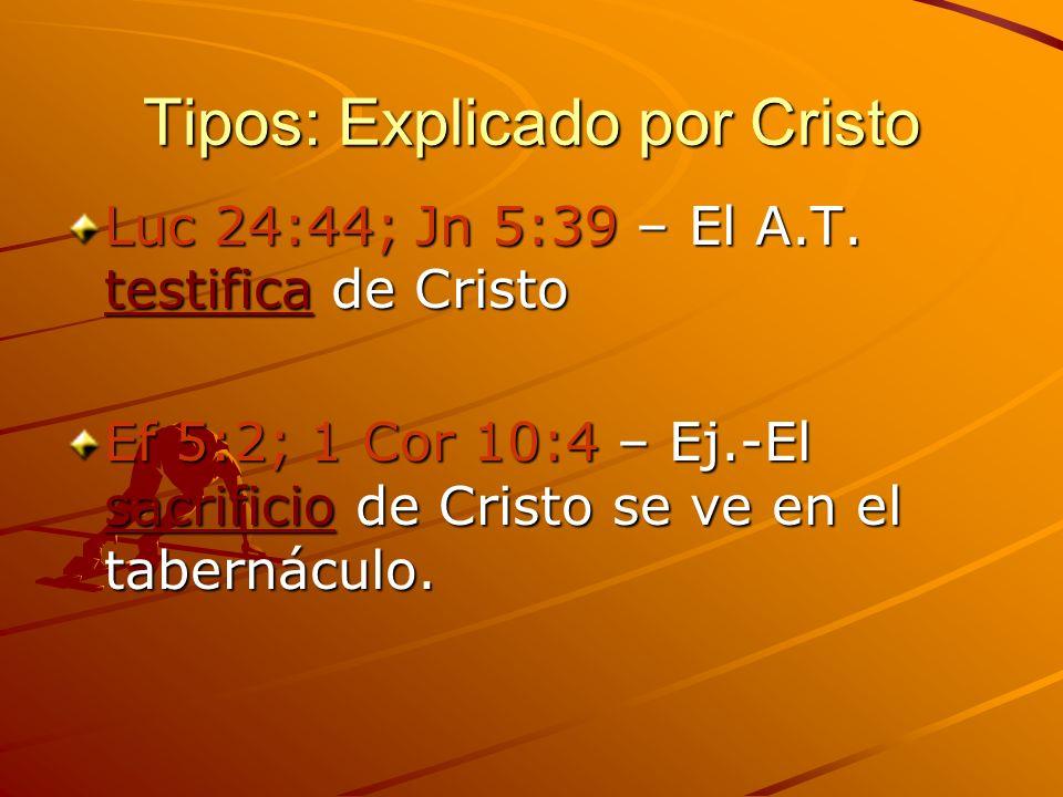 Tipos: Explicado por Cristo
