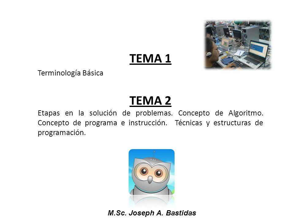 TEMA 1 TEMA 2 Terminología Básica