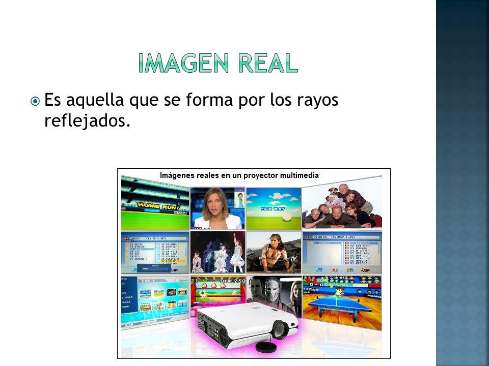 IMAGEN REAL Es aquella que se forma por los rayos reflejados.