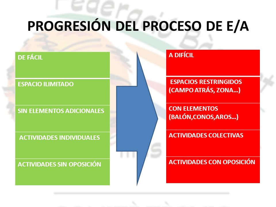 PROGRESIÓN DEL PROCESO DE E/A