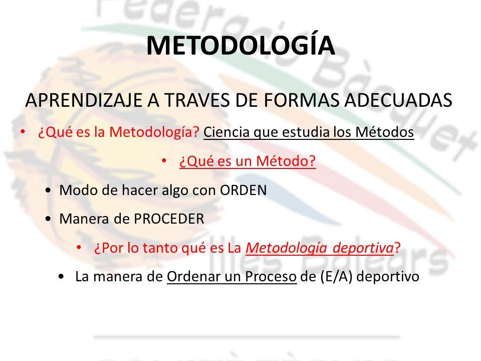 METODOLOGÍA APRENDIZAJE A TRAVES DE FORMAS ADECUADAS