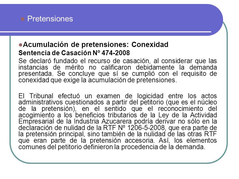Pretensiones Acumulación de pretensiones: Conexidad