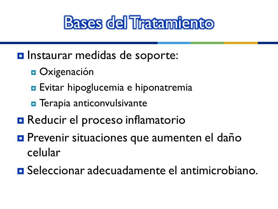 Bases del Tratamiento Instaurar medidas de soporte: