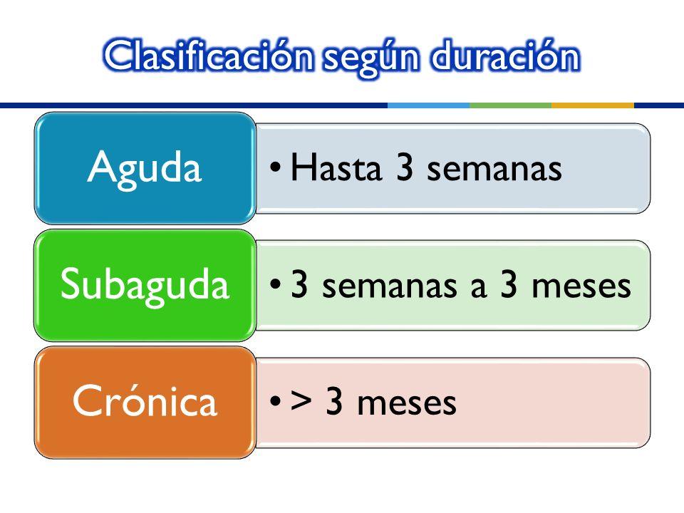 Clasificación según duración