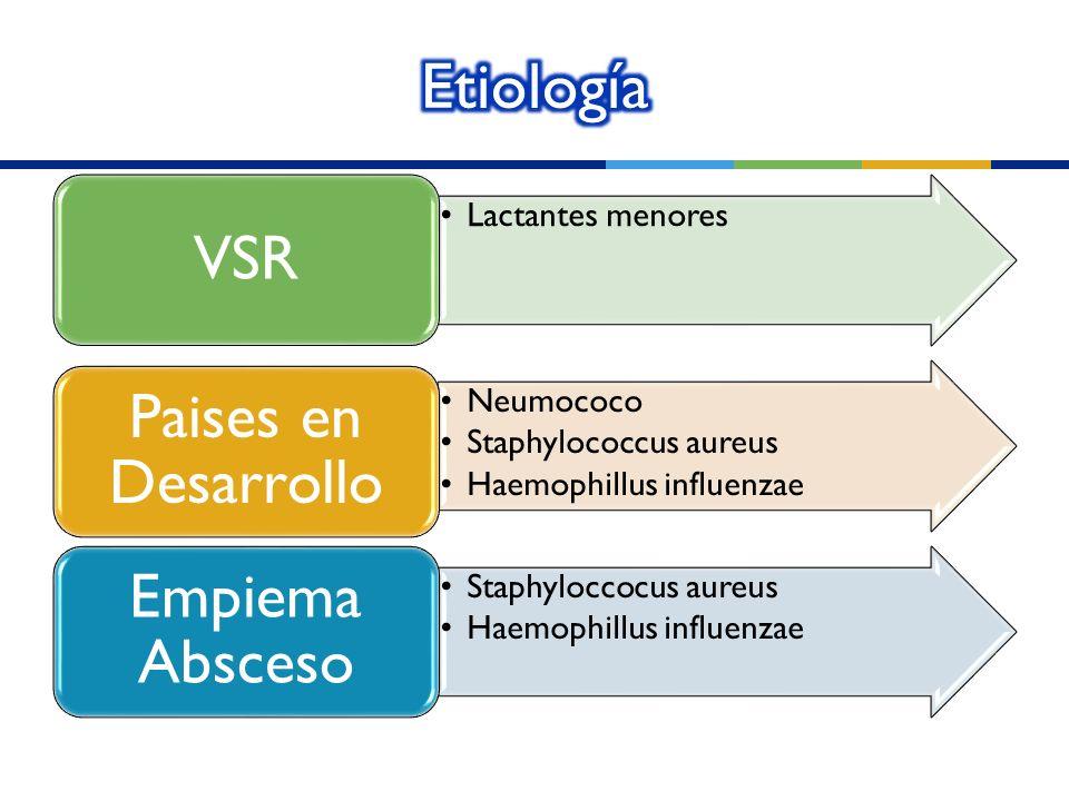 Etiología VSR Lactantes menores Paises en Desarrollo Neumococo