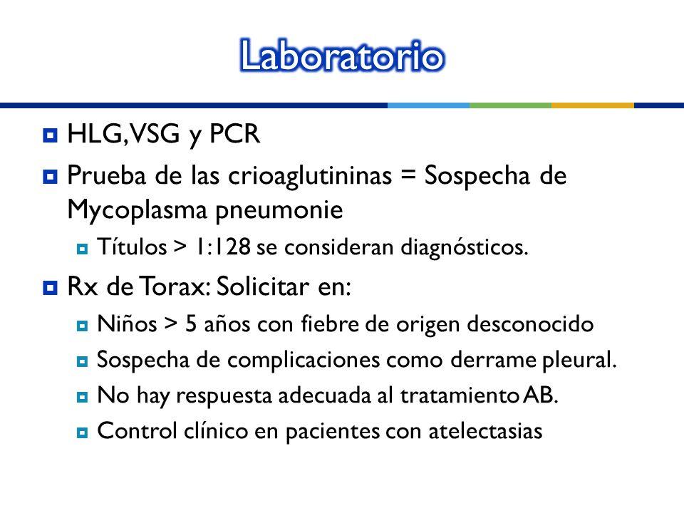 Laboratorio HLG, VSG y PCR