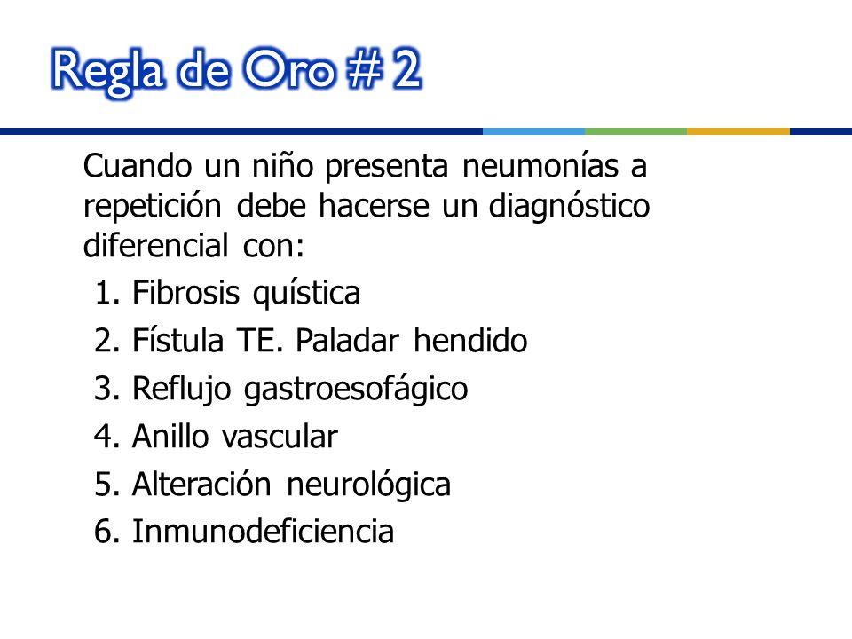 Regla de Oro # 2 Cuando un niño presenta neumonías a repetición debe hacerse un diagnóstico diferencial con: