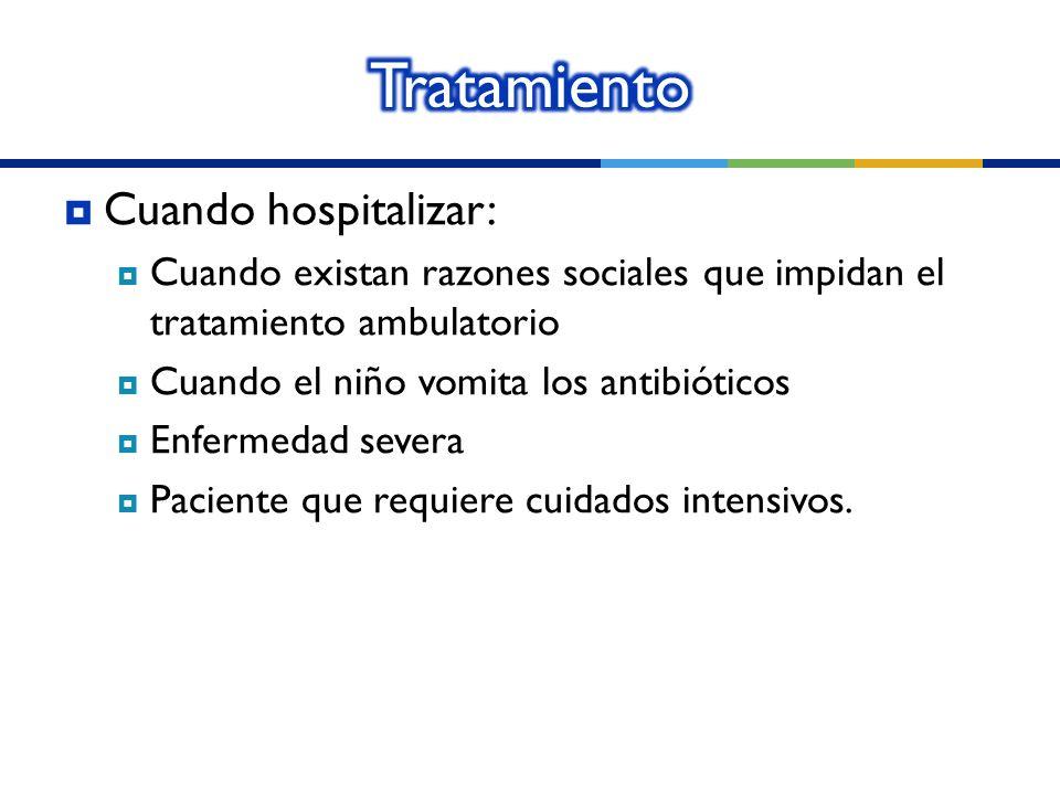 Tratamiento Cuando hospitalizar: