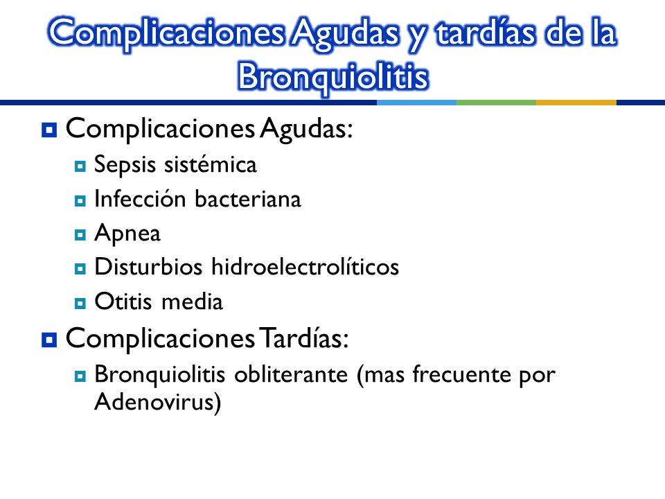 Complicaciones Agudas y tardías de la Bronquiolitis