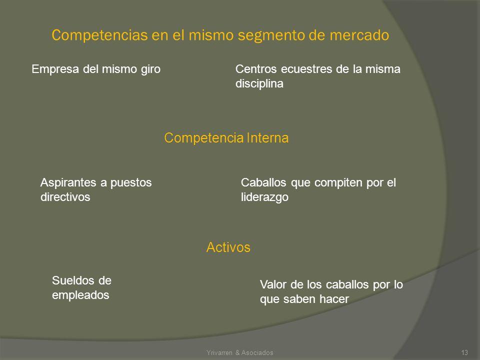 Competencias en el mismo segmento de mercado
