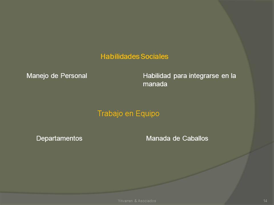 Habilidades Sociales Trabajo en Equipo Manejo de Personal