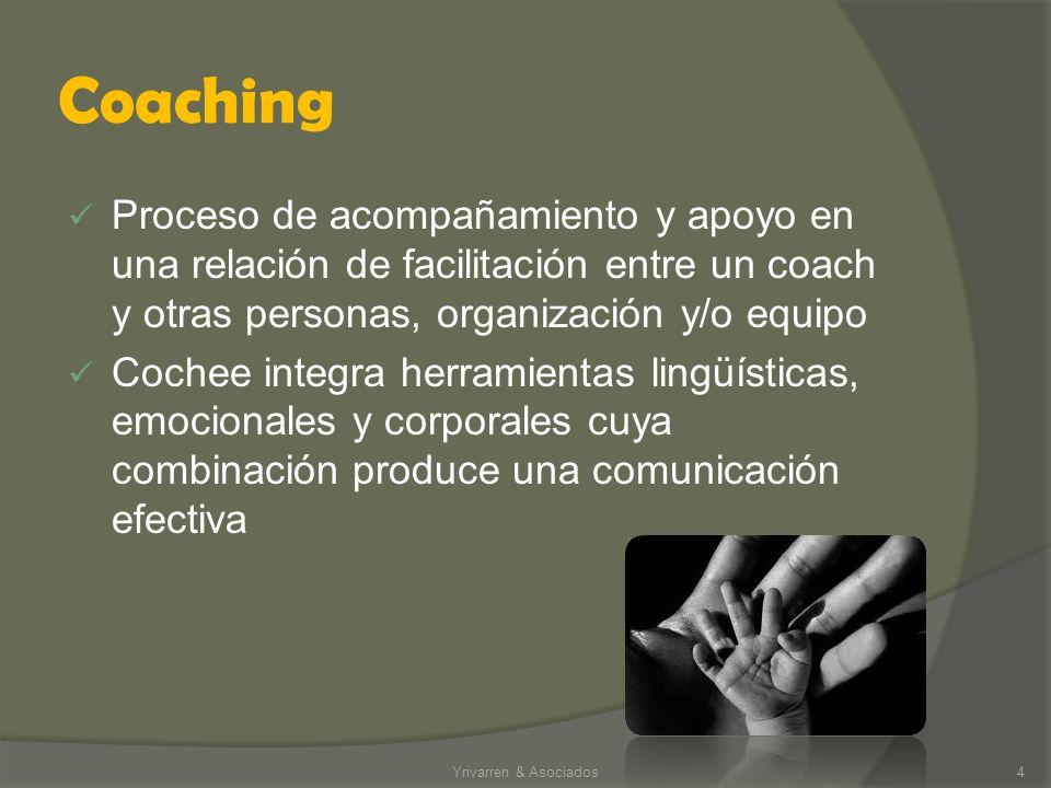 Coaching Proceso de acompañamiento y apoyo en una relación de facilitación entre un coach y otras personas, organización y/o equipo.