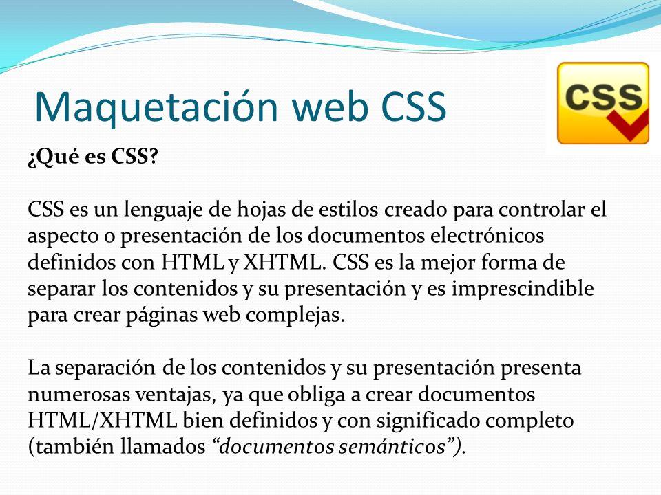Maquetación web CSS ¿Qué es CSS