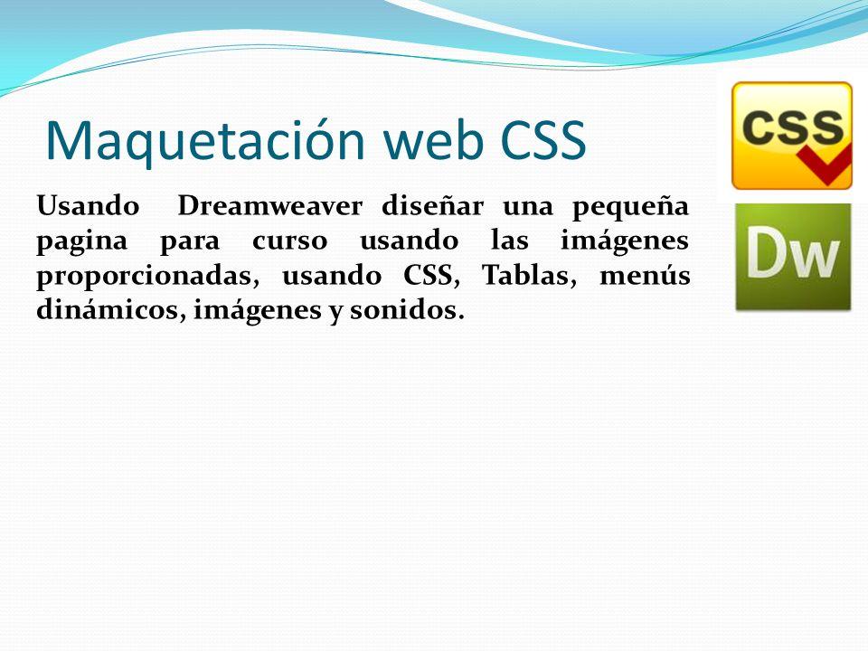 Maquetación web CSS