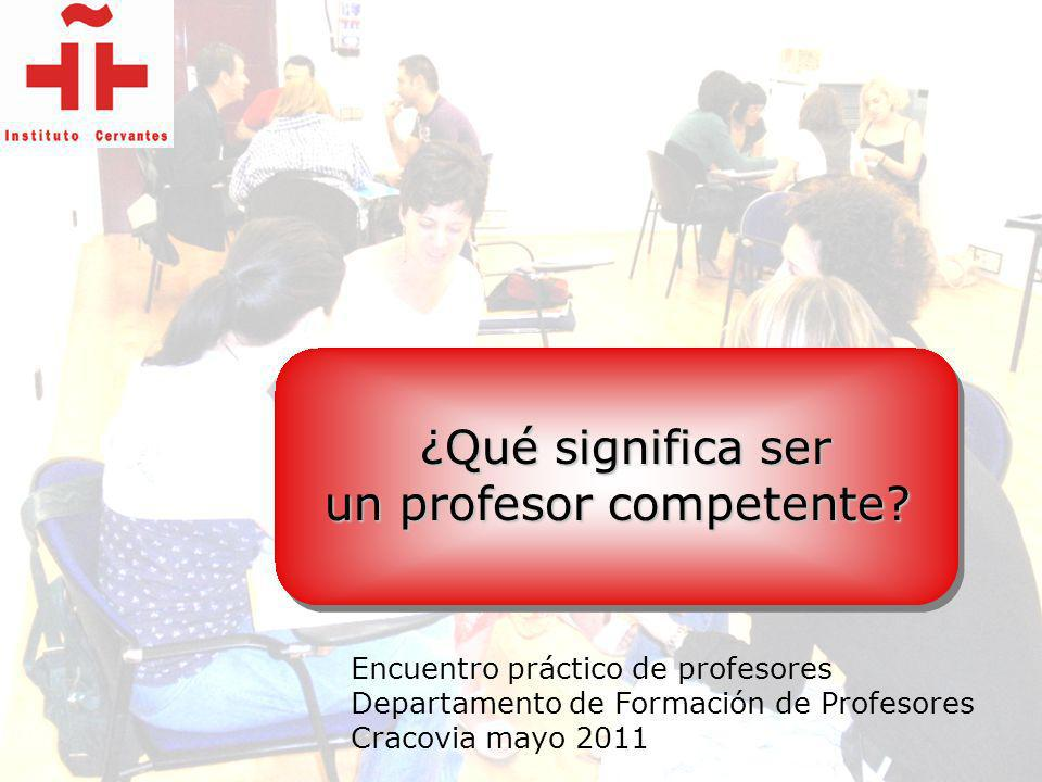 un profesor competente