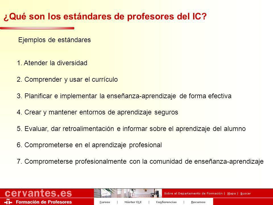 ¿Qué son los estándares de profesores del IC