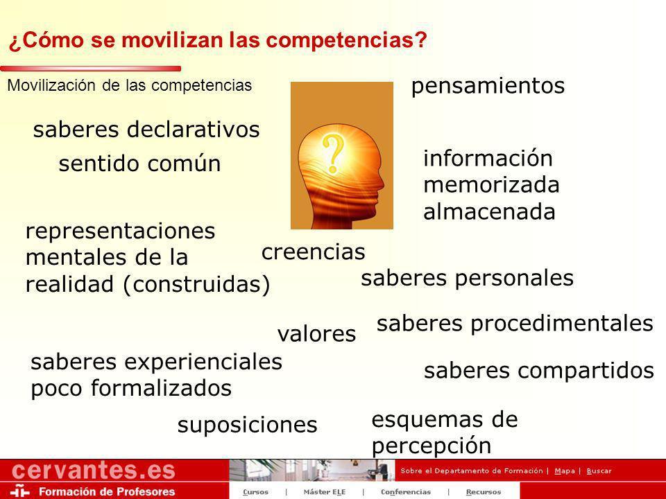 ¿Cómo se movilizan las competencias