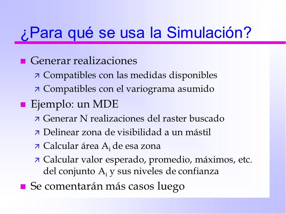 ¿Para qué se usa la Simulación
