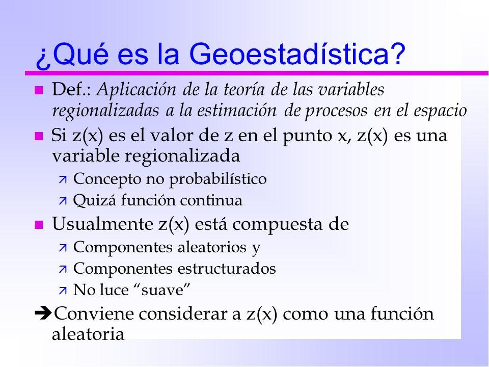 ¿Qué es la Geoestadística
