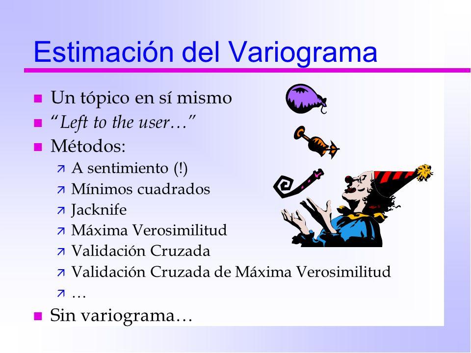 Estimación del Variograma