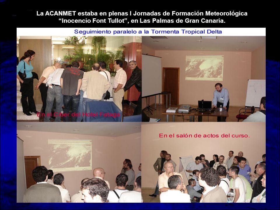 La ACANMET estaba en plenas I Jornadas de Formación Meteorológica