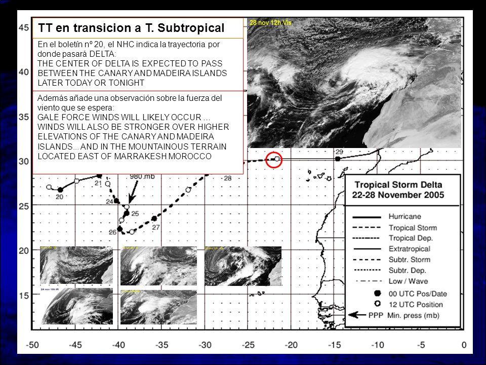 TT en transicion a T. Subtropical