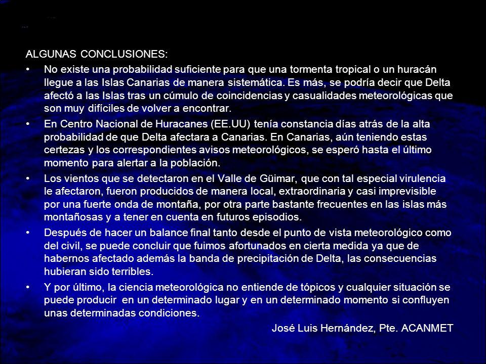 ALGUNAS CONCLUSIONES: