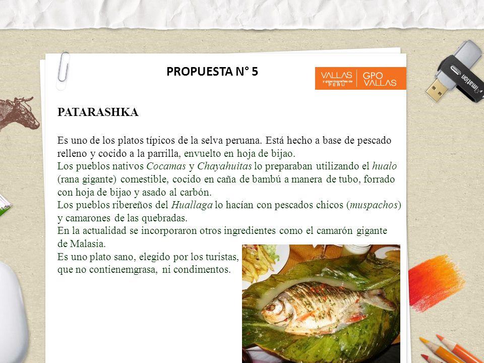 PROPUESTA N° 5 PATARASHKA