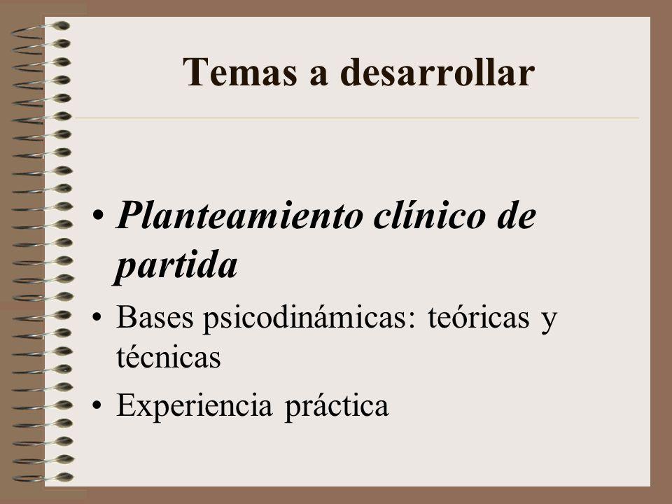 Planteamiento clínico de partida