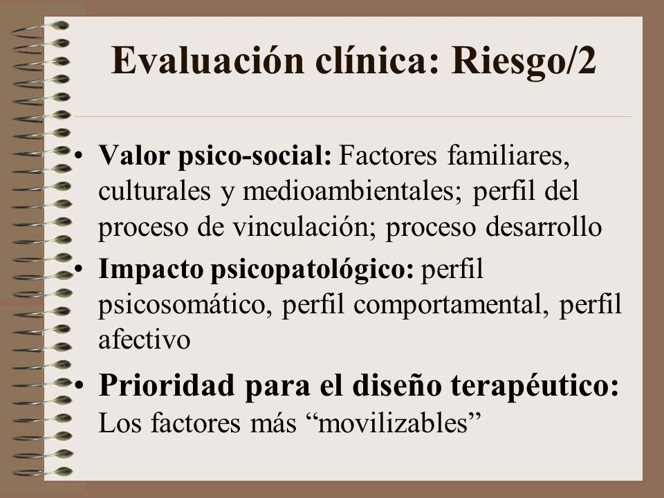 Evaluación clínica: Riesgo/2