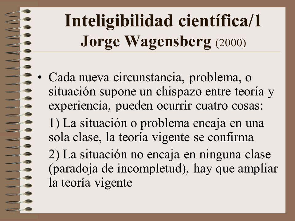 Inteligibilidad científica/1 Jorge Wagensberg (2000)