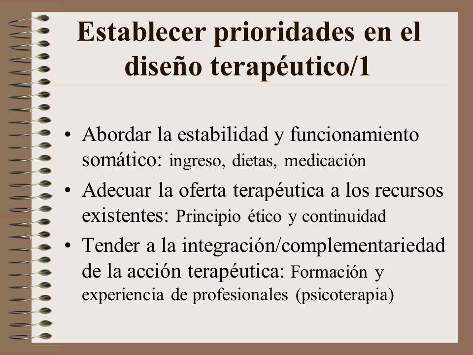 Establecer prioridades en el diseño terapéutico/1