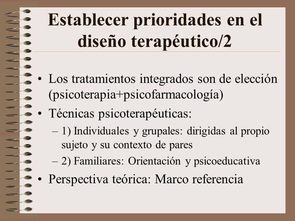 Establecer prioridades en el diseño terapéutico/2