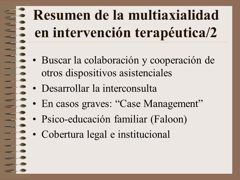 Resumen de la multiaxialidad en intervención terapéutica/2