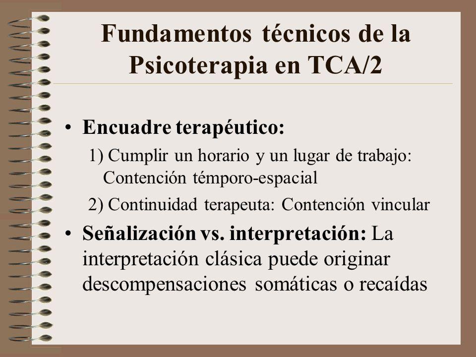 Fundamentos técnicos de la Psicoterapia en TCA/2