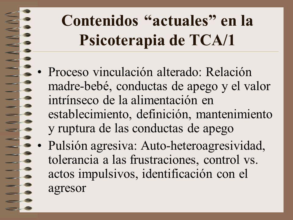 Contenidos actuales en la Psicoterapia de TCA/1