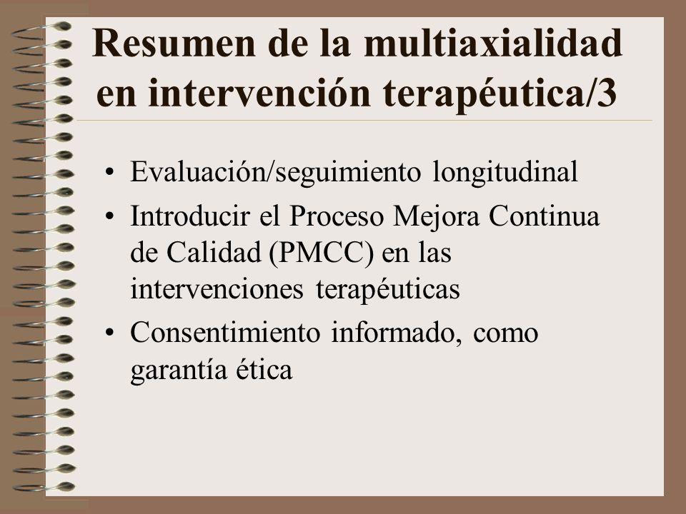 Resumen de la multiaxialidad en intervención terapéutica/3