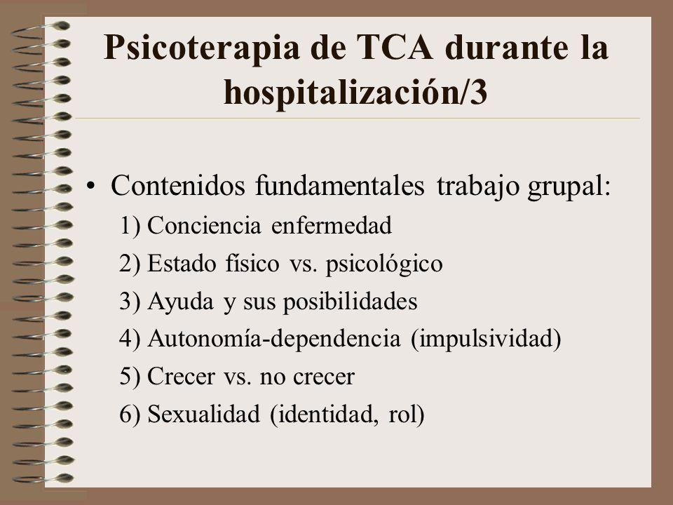 Psicoterapia de TCA durante la hospitalización/3