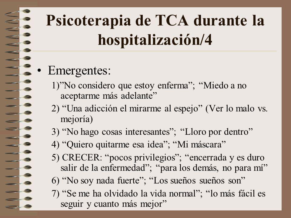 Psicoterapia de TCA durante la hospitalización/4