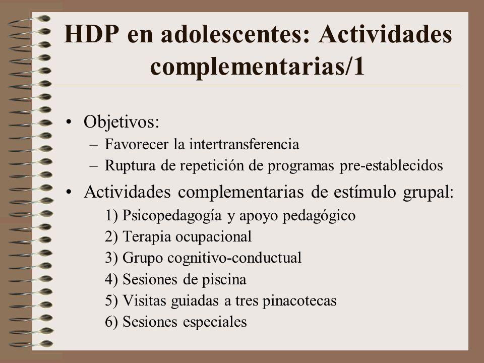 HDP en adolescentes: Actividades complementarias/1