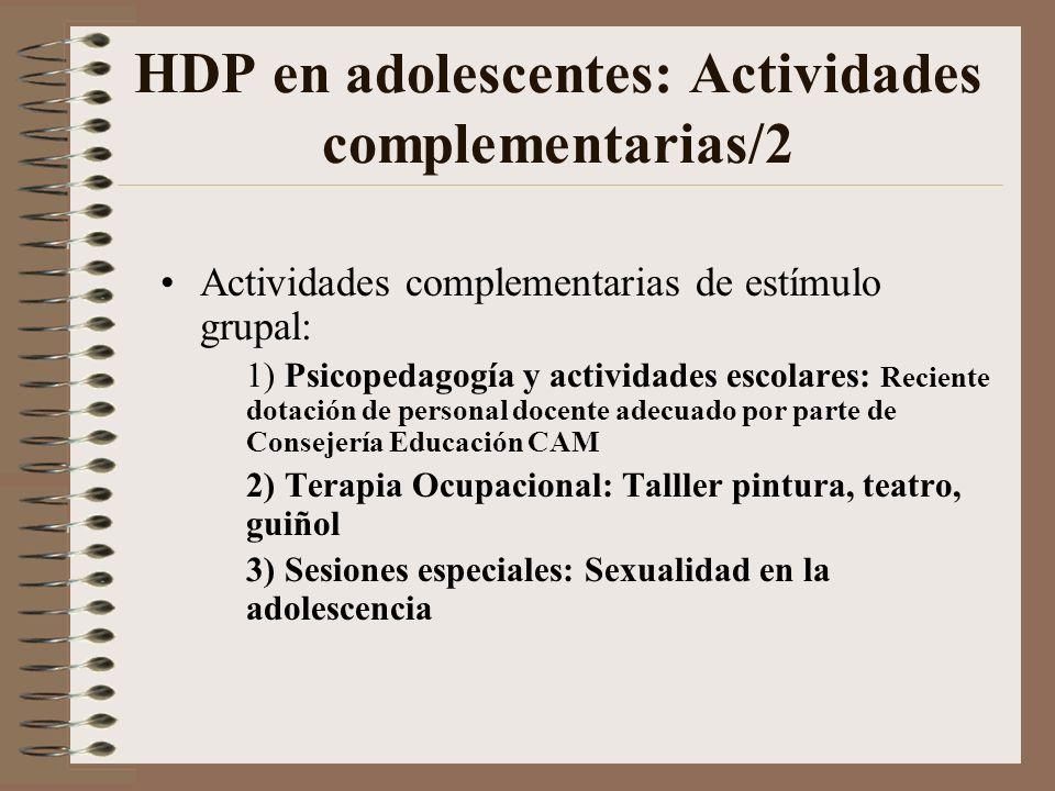 HDP en adolescentes: Actividades complementarias/2