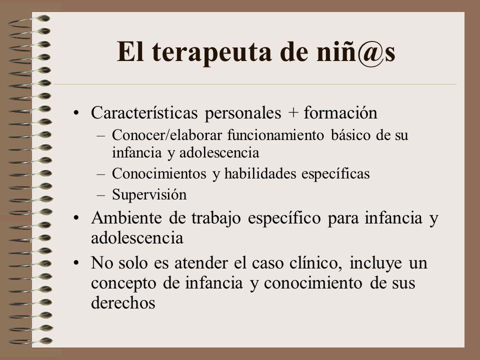 El terapeuta de niñ@s Características personales + formación