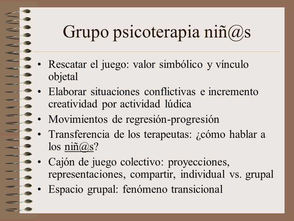 Grupo psicoterapia niñ@s