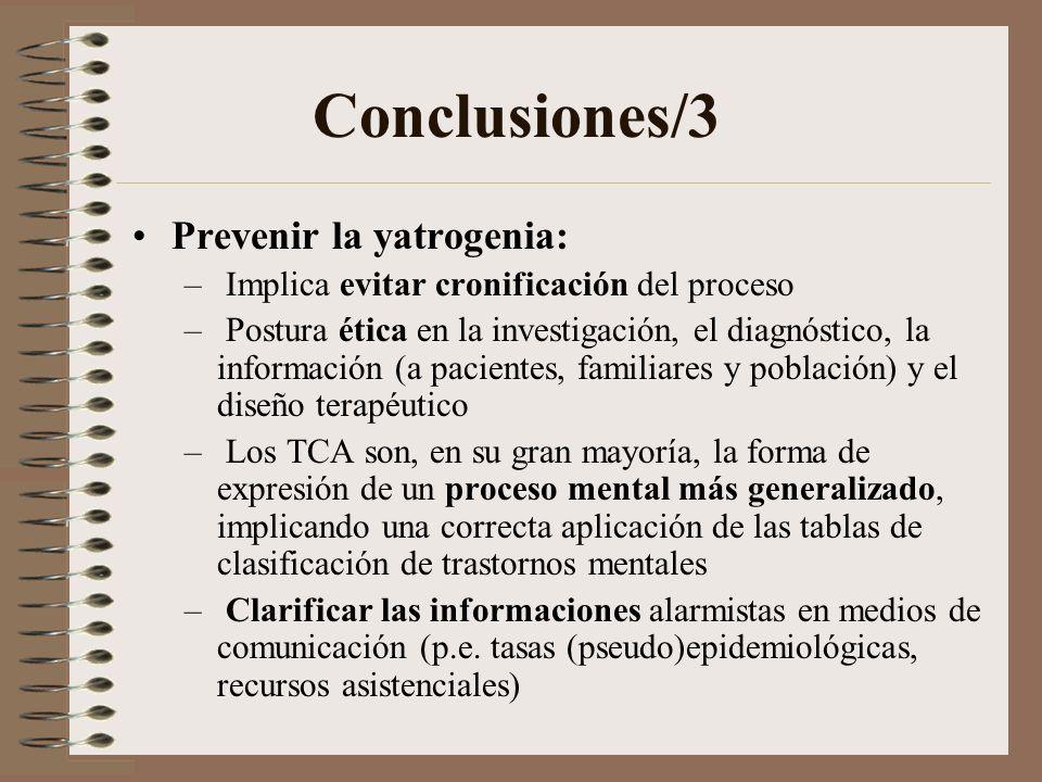 Conclusiones/3 Prevenir la yatrogenia: