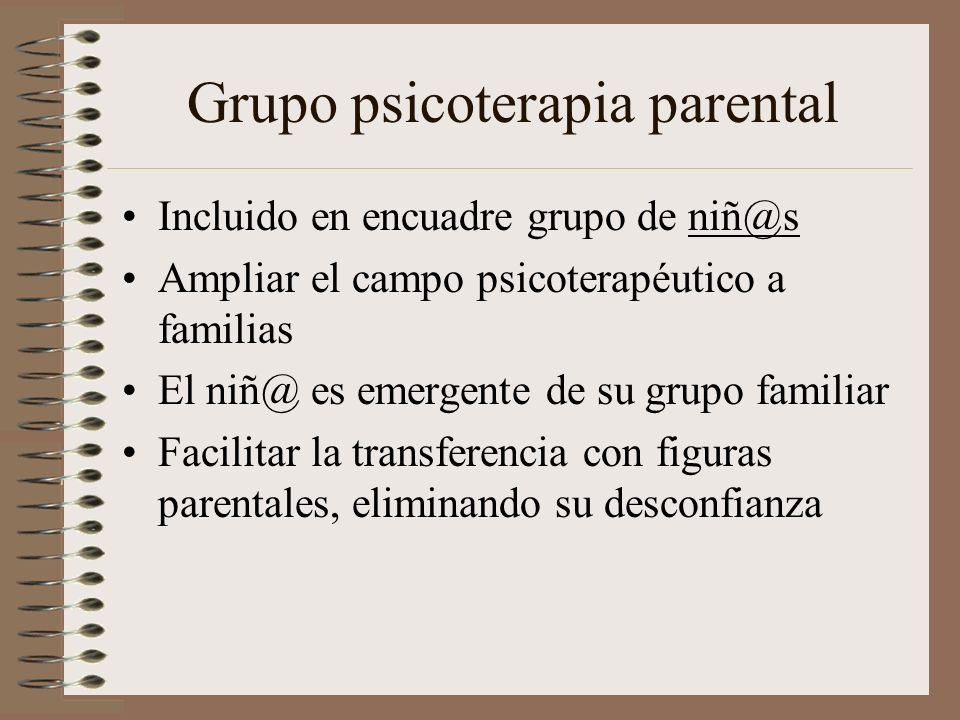 Grupo psicoterapia parental
