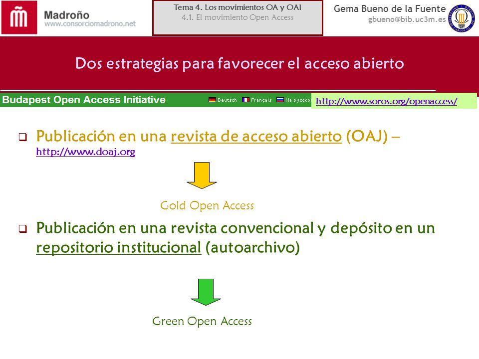Dos estrategias para favorecer el acceso abierto