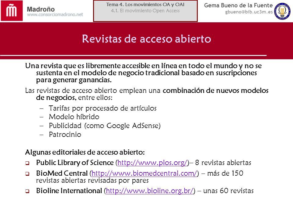 Revistas de acceso abierto