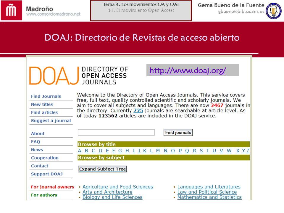 DOAJ: Directorio de Revistas de acceso abierto