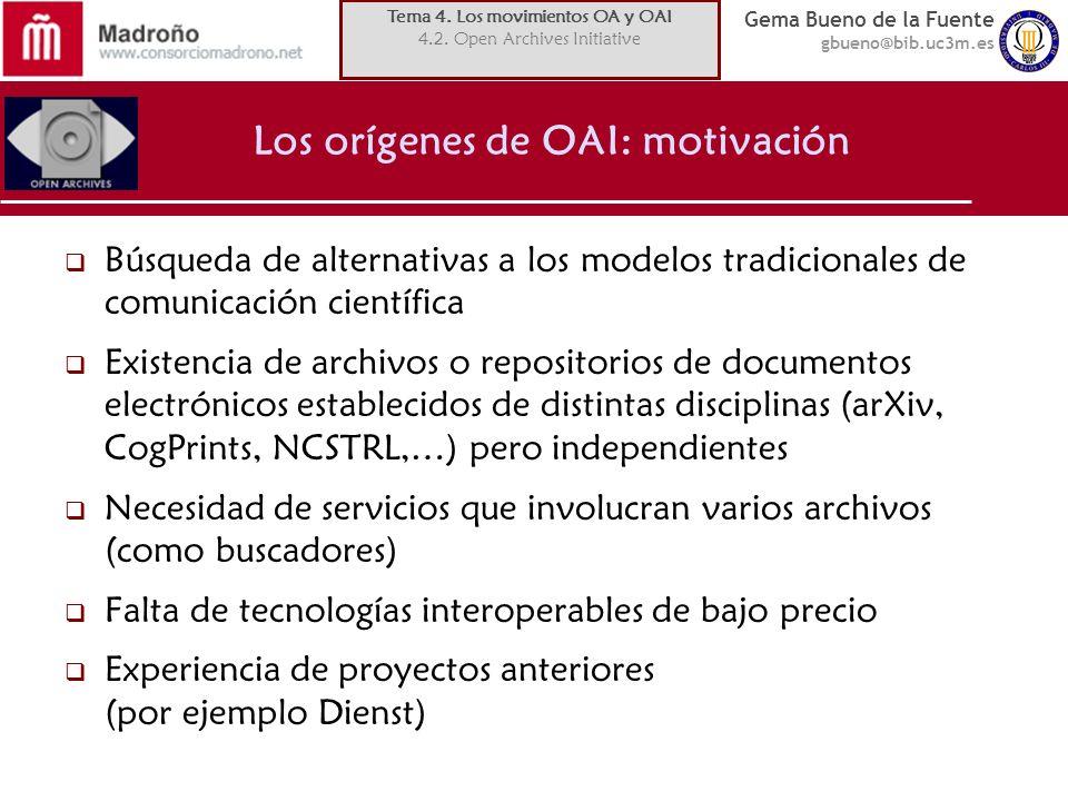 Los orígenes de OAI: motivación